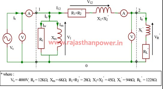 distribution transformer circuit diagram