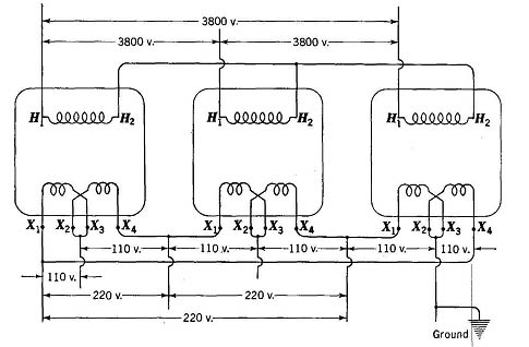 single phase to three phase transformer diagram